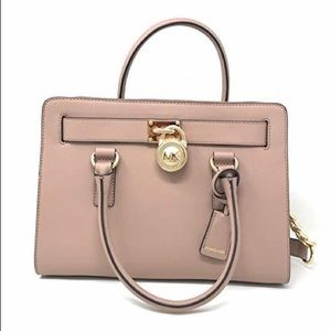 Michael Kors Hamilton East West Satchel Fawn